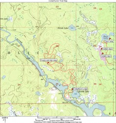 CedarHurst Trail Map